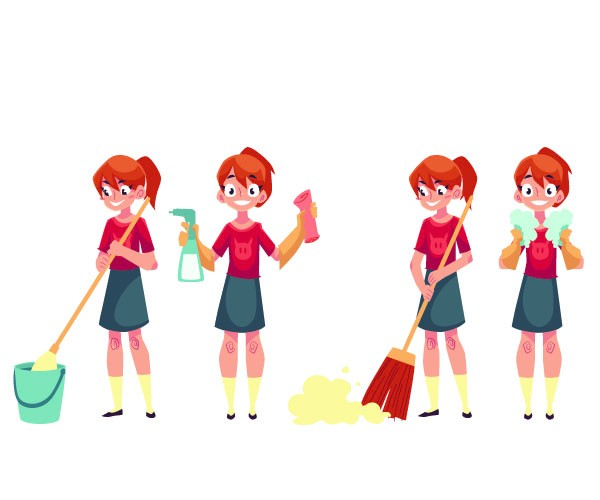 Students Do Domestic Chores
