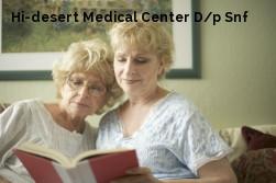 Hi-desert Medical Center D/p Snf